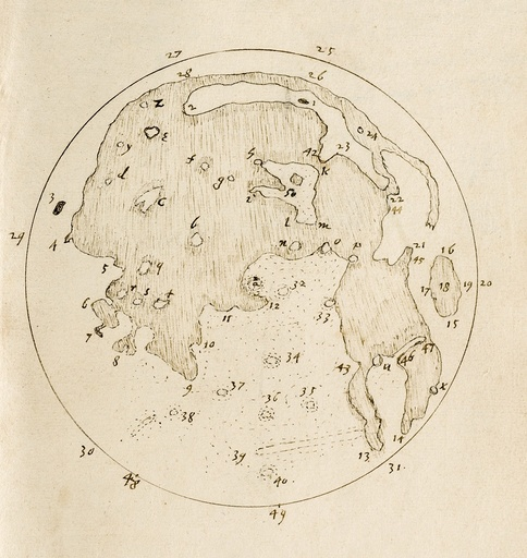 Harriot's Moon map, c.1612