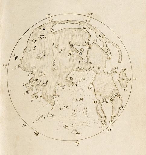Harriot's Moon map, c.1612