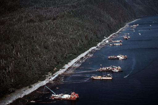 Exxon Valdez Oil Spill in Prince William Sound, Alaska