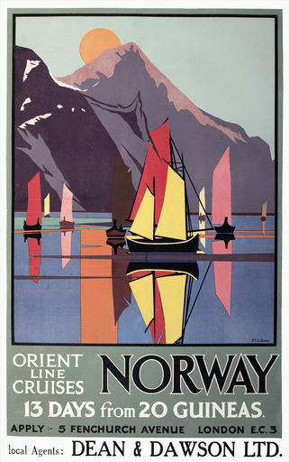 Poster advertising the Orient Line