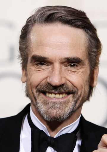 British actor Jeremy Irons arrives at the 67th annual Golden Globe Awards in Beverly Hills