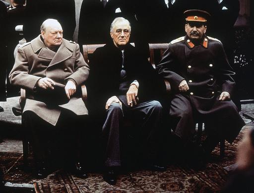 Winston Churchill, Franklin Roosevelt, Josef Stalin