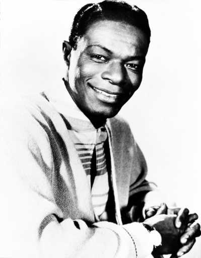 American singer and musician Nat King Cole.