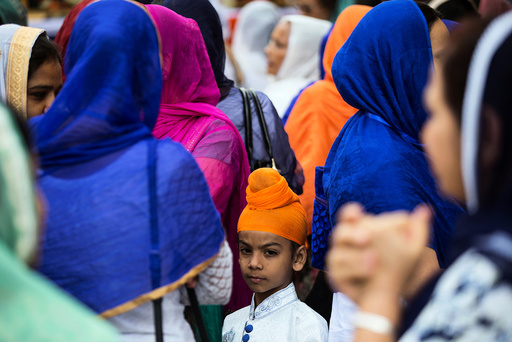 Sikh devotees attend an event in Nairobi