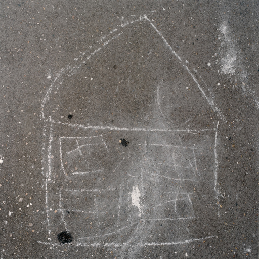 Chalk drawing of a house