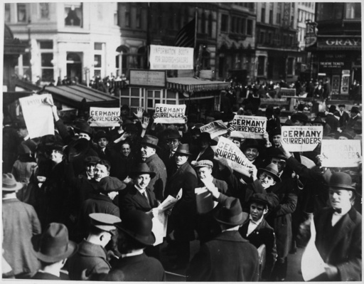 USA, 1.Wk., Kriegsende, Menschenmenge auf Time Square/ Foto - -