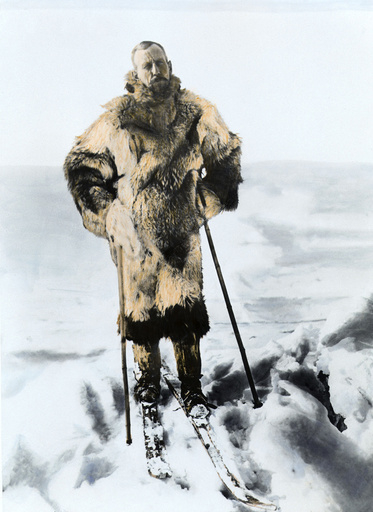Roald Amundsen auf Skiern / Foto - Roald Amundsen on Skis / Photo / 1925 - Roald Amundsen / Skis / Photo / 1925