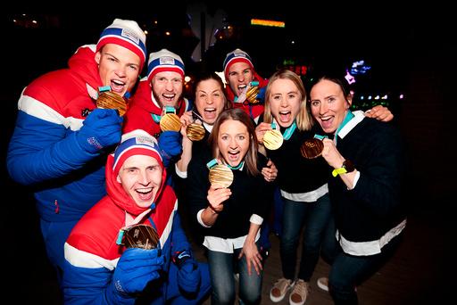 Vinter-OL. Olympiske leker i Pyeongchang 2018. Stafett langrenn 4x10 km. og 4x5 km.