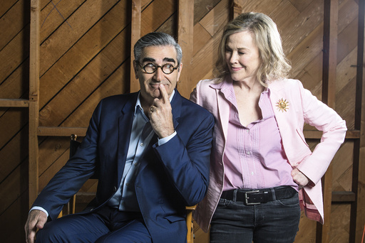 Eugene Levy and Catherine O'Hara play a husband and wife in 'Schitt's Creek,' a new comedy series on the cable channel Pop.
