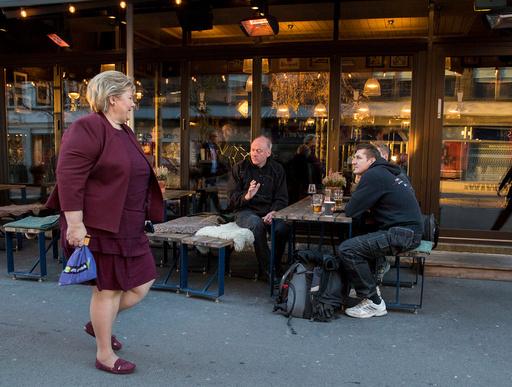 Høyres sentralstyre med statsminister og partileder Erna Solberg.