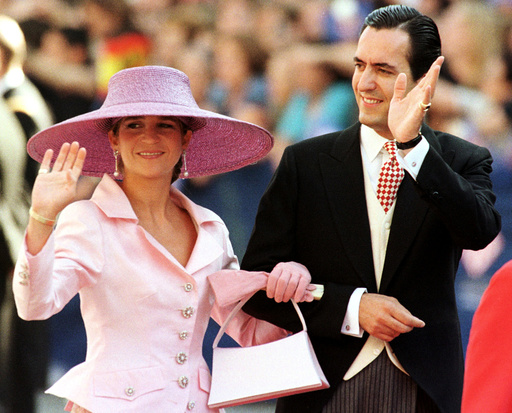 FILE PHOTO OF SPAIN'S INFANTA ELENA AND HUSBAND