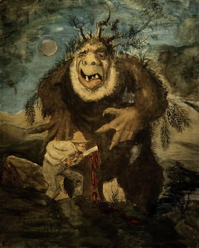 Th.Kittelsen, Die Waldtrolle - Th.Kittelsen, Forest Troll -