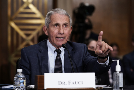 Smitteverntoppen Anthony Fauci. under en høring i Senatet. Foto: J. Scott Applewhite / AP / NTB