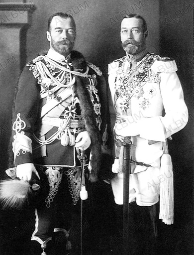 Tsar Nicholas II of Russia and George V of the United Kingdom in Berlin.