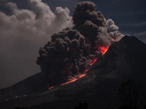Sinabung volcano on Sumatra
