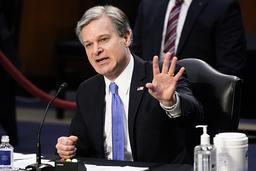 FBI-sjef Christopher Wray gjør det klart at angrepet på kongressen var innenlandsk terrorisme, og at slik hvit nasjonalisme er en alvorlig fare i USA. Foto: Patrick Semansky / AP/ NTB