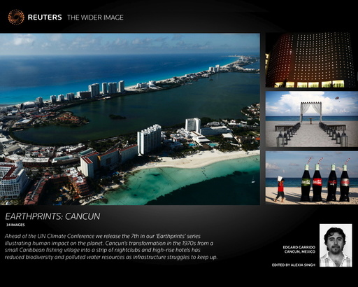 Wider Image: Earthprints: Cancun