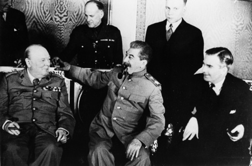 Treffen Churchill/Stalin in Moskau, 1944 - Churchill/Stalin meeting, Moscow, 1944 -
