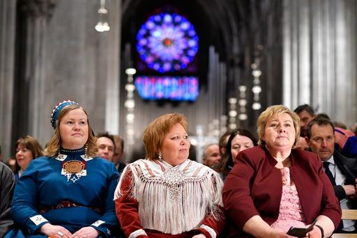 Jubileumsgudstjeneste i forbindelse med tråante2017 i Nidarosdomen.