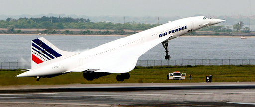 FILE PHOTO: The last Air France Concorde flight takes off from New York's John F. Kennedy Airport