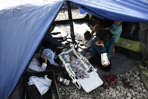 Refugee camp of Idomeni