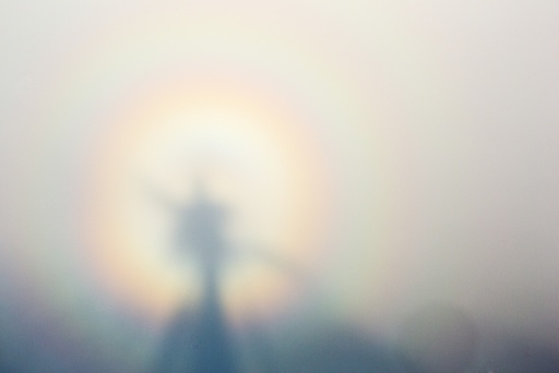 A Broken Spectre on Red Screes