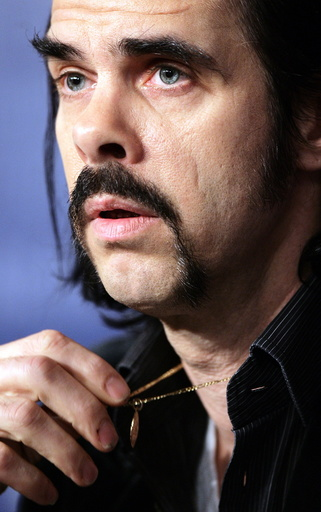 Australian musician and author Nick Cave attends a news conference at the 56th Berlinale International Film Festival in Berlin