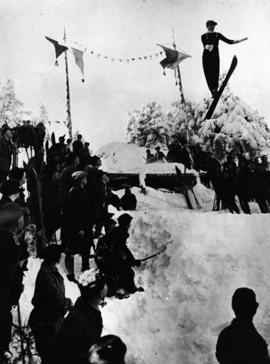 Skispringen / Foto um 1920 - Ski Jumping / Photo c.1920 -