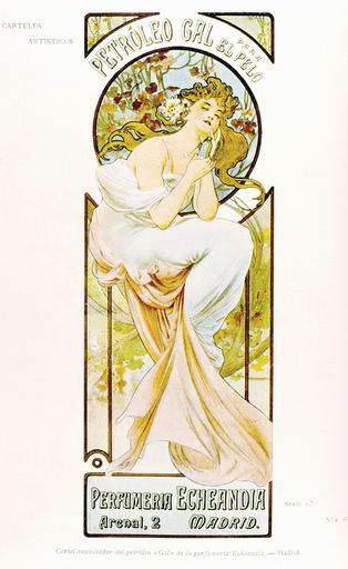 Poster design for Gal hair oil, Madrid