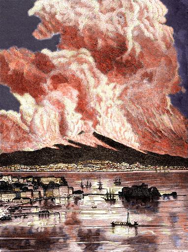 Vesuvius erupting in 1872