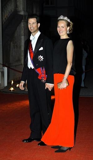 Prince couple of Liechtenstein in Germany