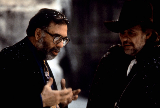 BRAM STOKER'S DRACULA, Director Francis Ford Coppola, Anthony Hopkins, on set, 1992. ©Columbia Pictu