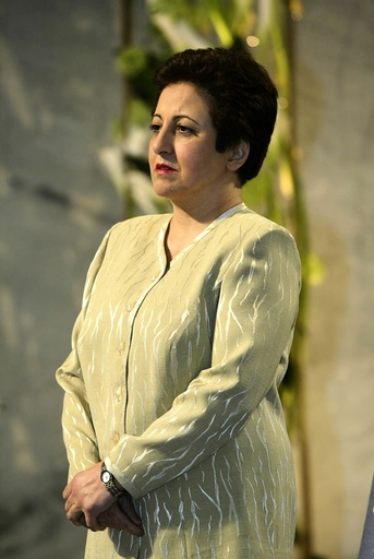 The Iranian human rights activist and lawyer Shirin Ebadi arrives for the the Nobel Peace Award