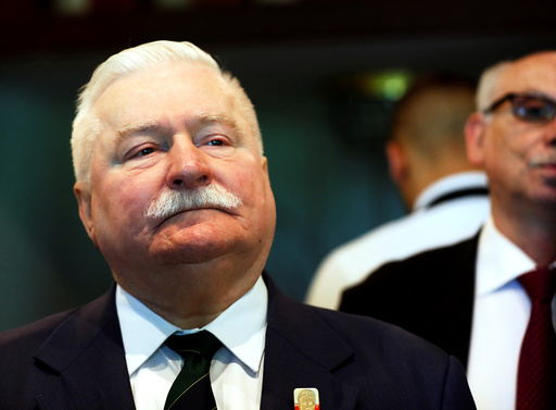 Nobel Peace Prize winner, former Polish president, Walesa attends EIN Francisco Lucas Pires merit award ceremony in Riga