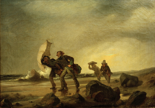 S.Thon, Sturm u.Regen an d.norweg.Küste - S.Thon, Rain and wind on Norwegian coast -