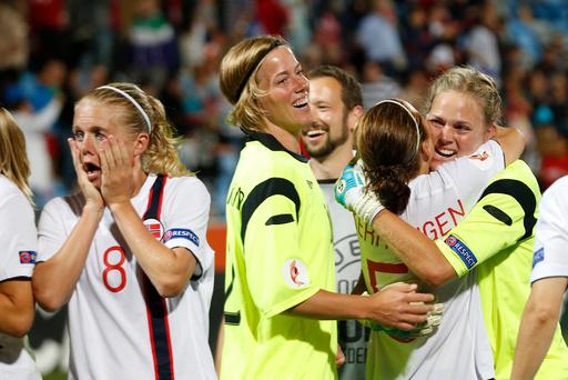 EM i fotball. Norge-Danmark 1-1, 5-3 etter straffer.