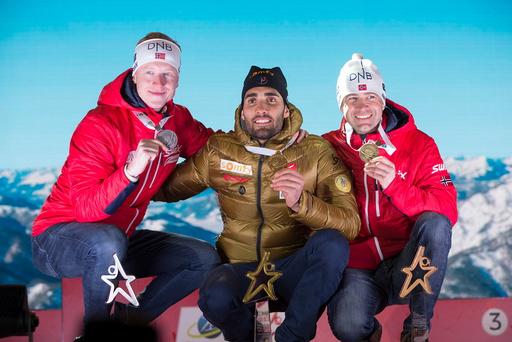 VM i skiskyting 2017. Medaljesermoni med både sølv og bronse