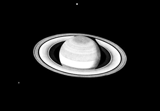 Saturn, engraving