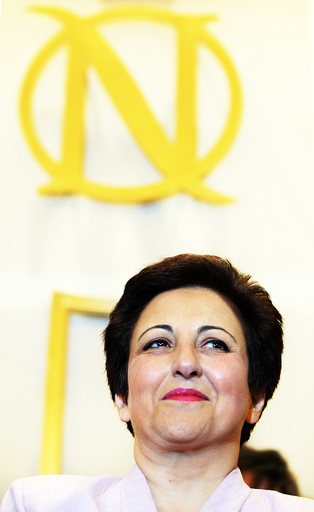 Iranian Nobel Peace Prize winner Shirin Ebadi visit the Nobel institute