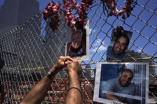 USA. NYC. May 2002 WTC memorials.