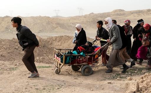 Displaced Iraqi families