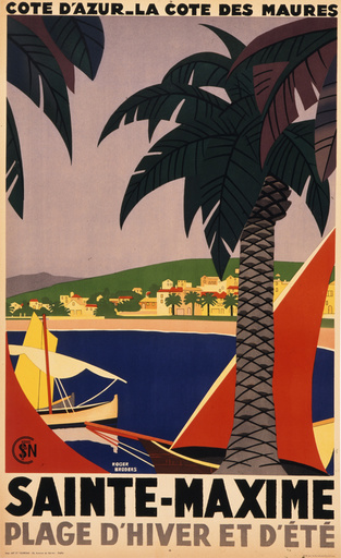 Sainte Maxime French travel poster