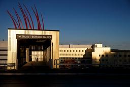 En koronasyk pasient ved Sykehuset Østfold i Sarpsborg døde fredag. Foto: Cornelius Poppe / NTB