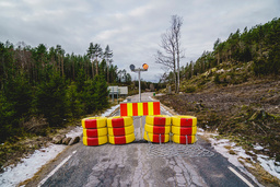 Norge stengte i praksis grensen mot Sverige 29. januar. Foto: Stian Lysberg Solum / NTB