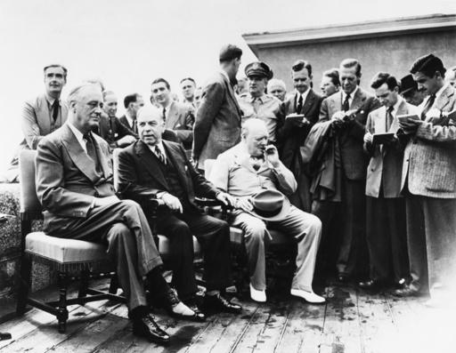 Konferenz von Quebec 1943 - Roosevelt, Churchill, King/ Quebec/ 1943 - Roosevelt, Churchill, King/ Québec/ 1943