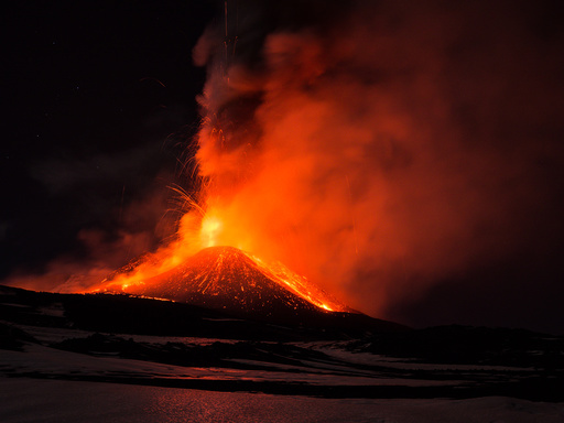 Volcano Etna on Sicily