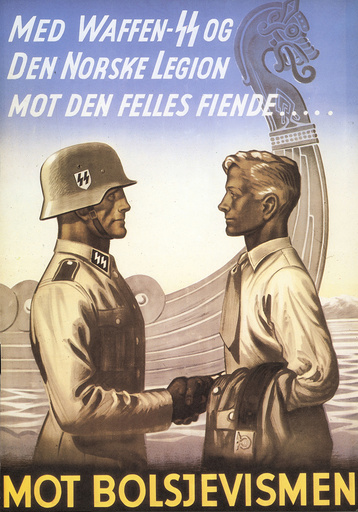 'Mot Bolsjevismen'/Plakat - German Troups in Denmark and Norway. -
