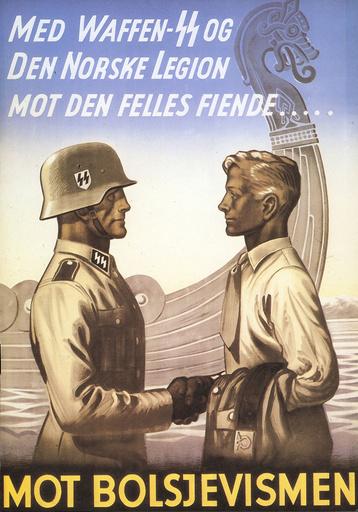 'Mot Bolsjevismen'/Plakat - German Troups in Denmark and Norway. -