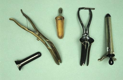 Vaginal speculae, circa 1870-1900