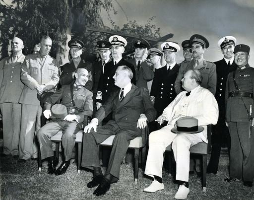 Konferenz von Kairo 1943 - Cairo Conference 1943 / Photo. - 2e G. M. / Conférence du Caire, 1943.